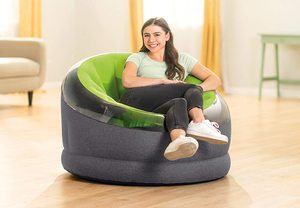 6. Intex Empire Inflatable Chair, Green