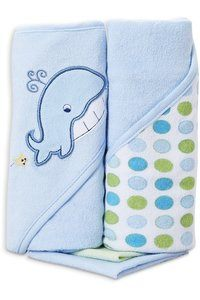 #7 Spasilk Hooded Terry Bath Towel with Washcloths