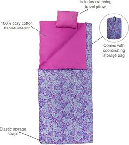 #7 Wildkin Kids Sleeping Bags for Boys and Girls Size