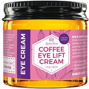 7. Leven Rose 100% Natural Coffee Eye Lift Cream