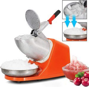 #7ZENY Electric Ice Shaver 300W 2000r Blade Shaved Ice Snow
