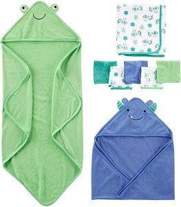 #8 Simple Joys by Carter's Baby Boys' 8-Piece Towel and Washcloth Set