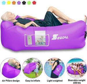 8. Inflatable Lounger Air Sofa with Pillow