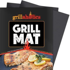 #9 Grillaholics Grill Mat - Set of 2 Heavy Duty BBQ Grill Mats