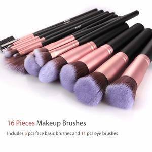 2. BESTOPE Makeup Brushes 16 PCs (Rose Golden)