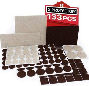 2. X-PROTECTOR Premium Two Colors Pack Furniture Pads 133 Piece