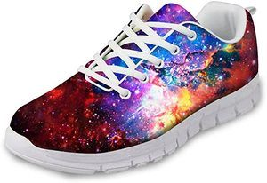 3. FOR U DESIGNS Fashion Lightweight Lace-Up Sneakers