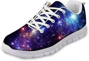 4. FOR U DESIGNS Fashion Galaxy Breathable Mesh Sneakers