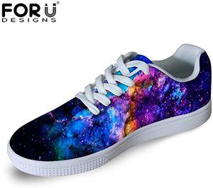 7. FOR U DESIGNS Casual Men's Galaxy Print Skateboard Shoes