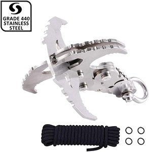 8. GearOZ Gravity Grappling Hook, Folding Survival Claw
