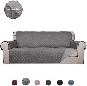 9. PureFit Reversible Quilted Sofa Cover, Water Resistant