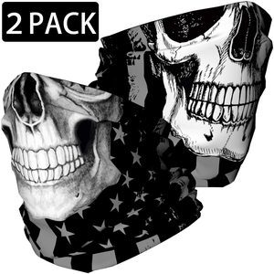9. Skull Face Mask Bandana, Motorcycle Face Mask