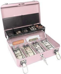 1. Certus Global Large Pink Cash Box with Money Tray