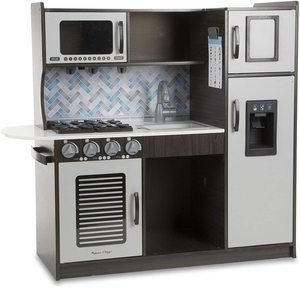 1. Melissa & Doug Wooden Chef's Pretend Play Toy Kitchen – Charcoal