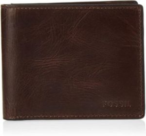 #1. Men's Richard Leather RFID Fossil Wallet