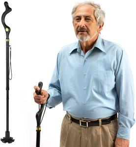 1. Walking Cane for Men and Women, 10 Adjustable Heights