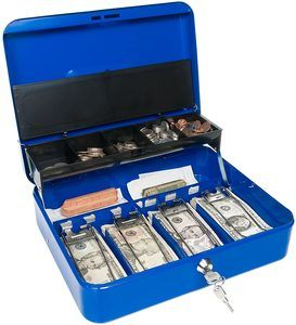10. Certus Global Large Blue Cash Box