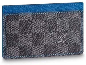 #10. Louis Vuitton Damier Graphite Bleu Card Holder N64029