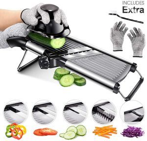10. Mandoline Food Slicer Adjustable Thickness