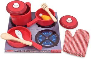 2. Melissa & Doug Kitchen Accessory Set