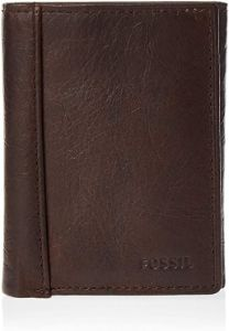 #2. Men's Leather Trifold Fossil Wallet
