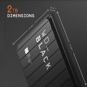 2. WD Black 2TB P10 Game Drive Portable External Hard Drive