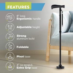 3. HONEYBULL Walking Cane for Men & Women