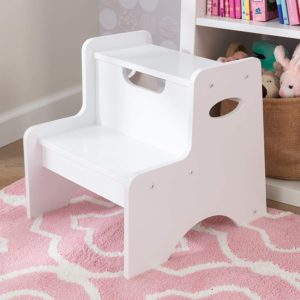 3. KidKraft Wooden Two Step Children's Stool with Handles