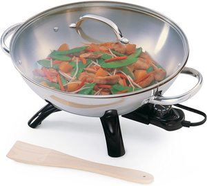 3. Presto 5900 1500W Stainless-Steel Electric Wok