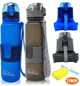3. QUILIVIK Collapsible Water Bottle (2Pack)