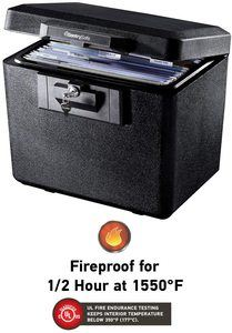 3. SentrySafe 1170 Fireproof Box with Key Lock