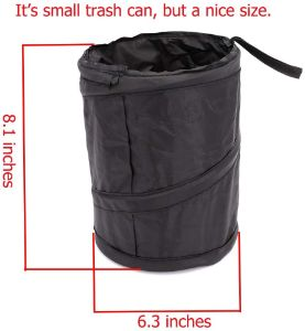 3. UTSAUTO Portable Car Trash Can Garbage Bin