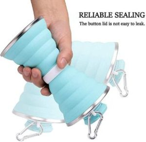 4. Collapsible Water Bottle, Camping Cup with Carabiner