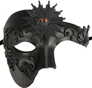 4. Half Face Men's Phantom of The Opera Vintage Design