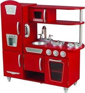 4. KidKraft Vintage Play Kitchen – Red