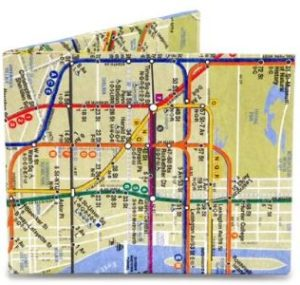 #4. Mighty Wallet Men's NYC, Multi Subway map