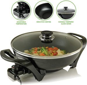 4. Ovente Electric Skillet, for Breakfast & Dinner
