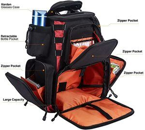 4. Piscifun Fishing Tackle Backpack with 4 Trays