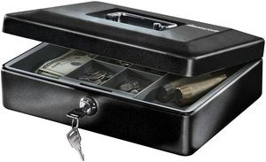 4. SentrySafe CB-12 Cash Box with Money Tray and Key Lock