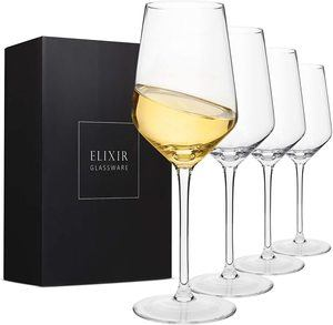 5. Crystal Wine Glasses – Hand Blown
