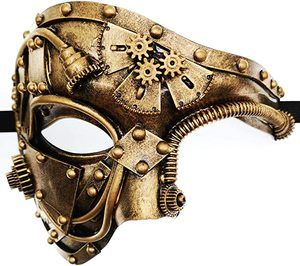 5. Mechanical Men Venetian Mask for Masquerade Steam
