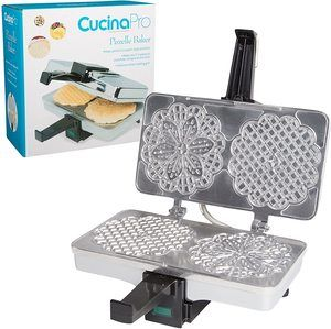 5. Polished Electric Pizzelle Baker Press