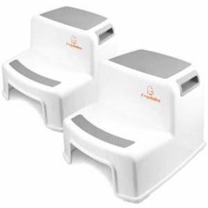 6. Angelbliss Dual Height 2 Step Stool for Kids
