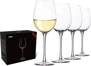 6. Hand Blown Italian Style Crystal White or Red Wine Glasses