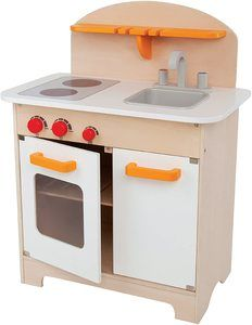 6. Hape Fully Equipped Wooden Pretend Play Kitchen Set