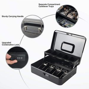 6. KYODOLED Large Cash Box with Combination Lock