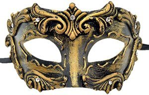 7. Coolwife Mens Masquerade Mask, Party Mask