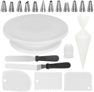 7. Kootek All-In-One Cake Decorating Kit Supplies, White