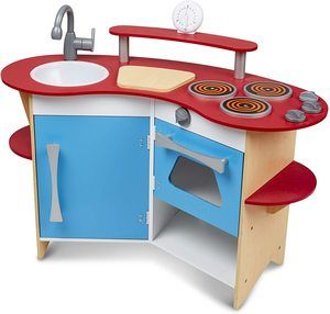 7. Melissa & Doug Cook's Corner Wooden Kitchen