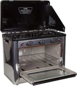 7. Stansport Propane Outdoor Camp Oven and 2 Burner Range